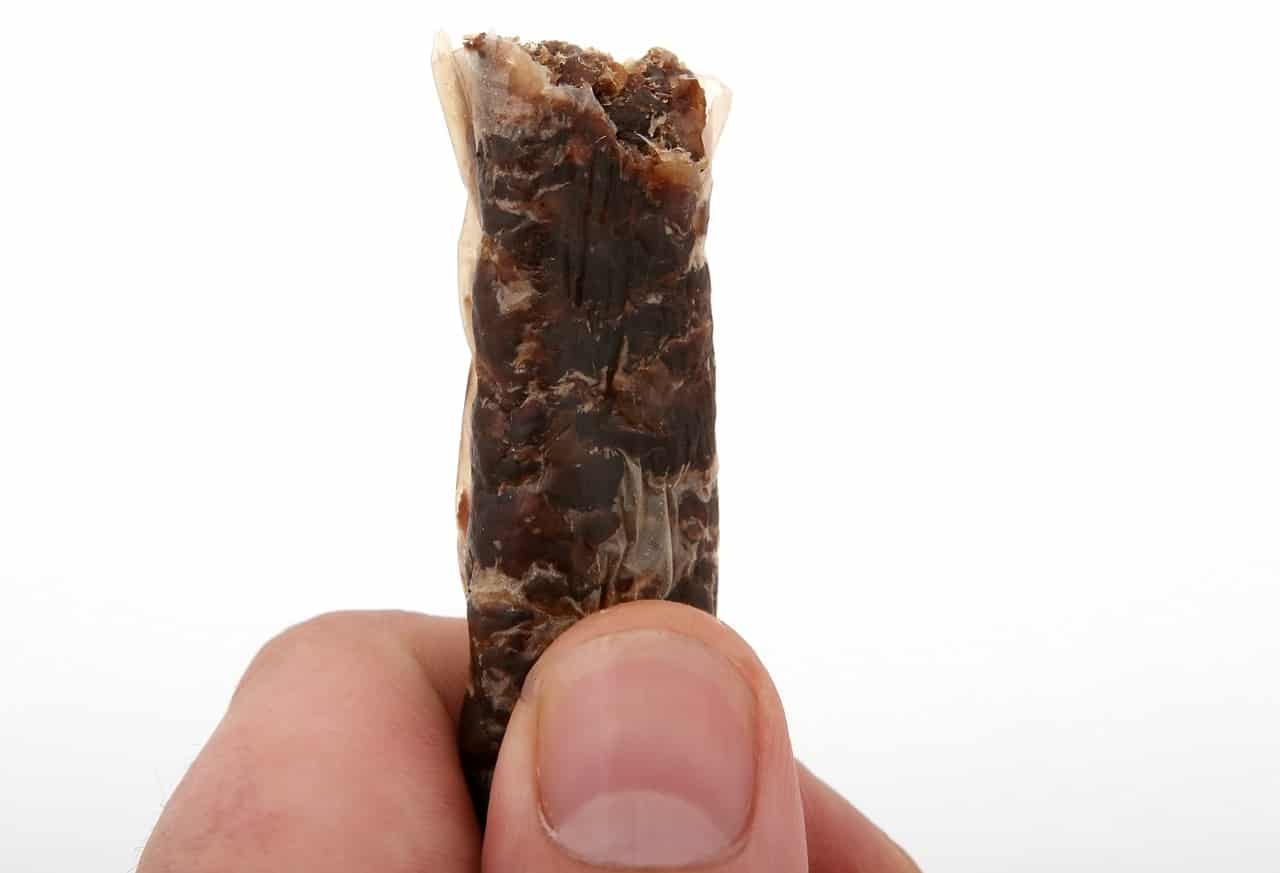 dehydrated meat thumb