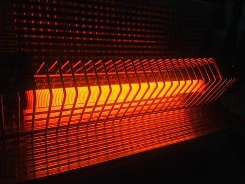 heater orange light