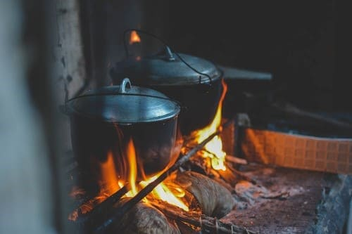 burning pots cooking