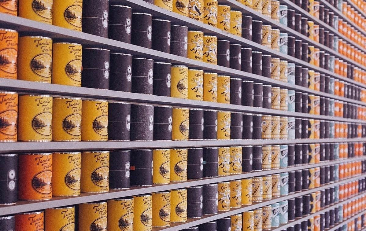 grocery canned goods