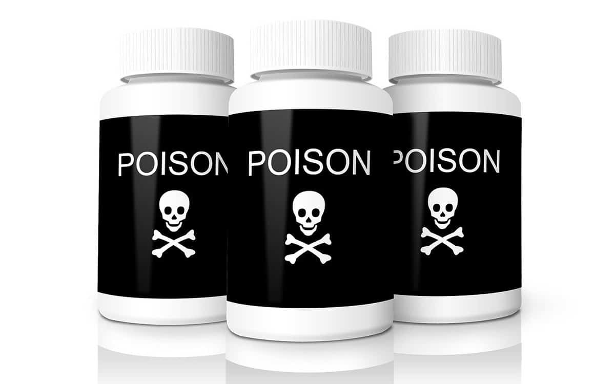 poison sign containers