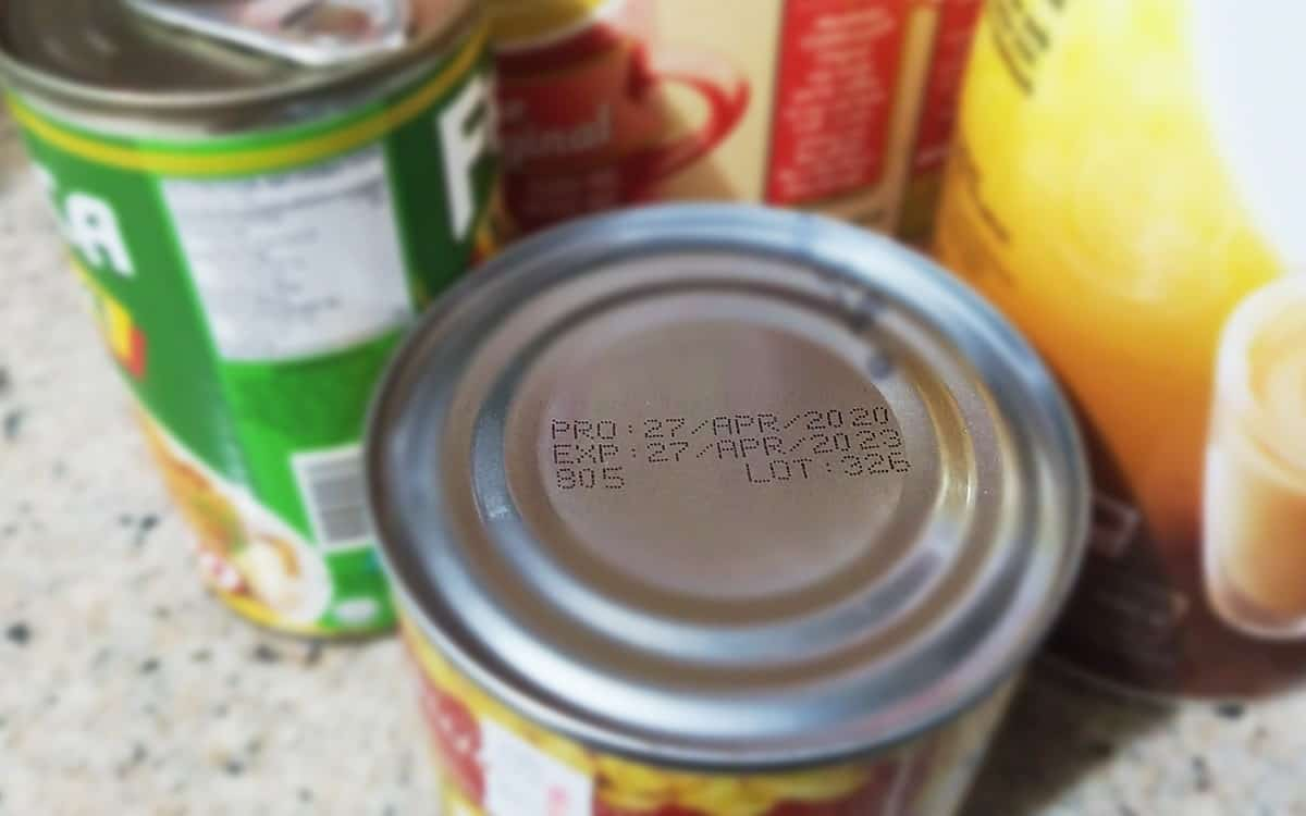 canned goods kitchen counter