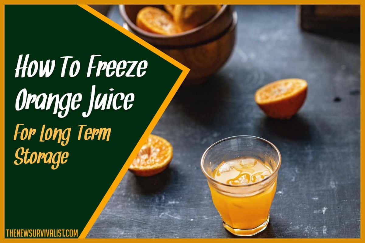 How To Freeze Orange Juice For Long-Term Storage