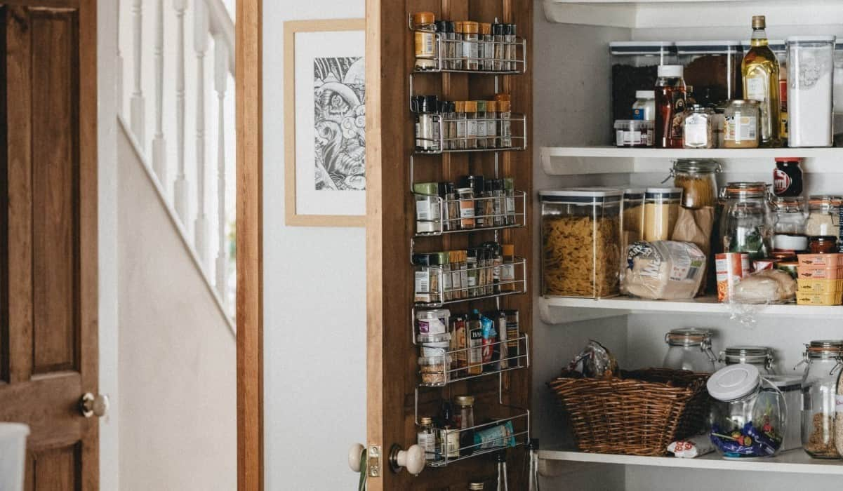pantry open cabinet