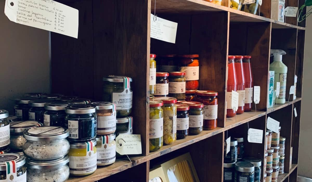 shelf containers jars