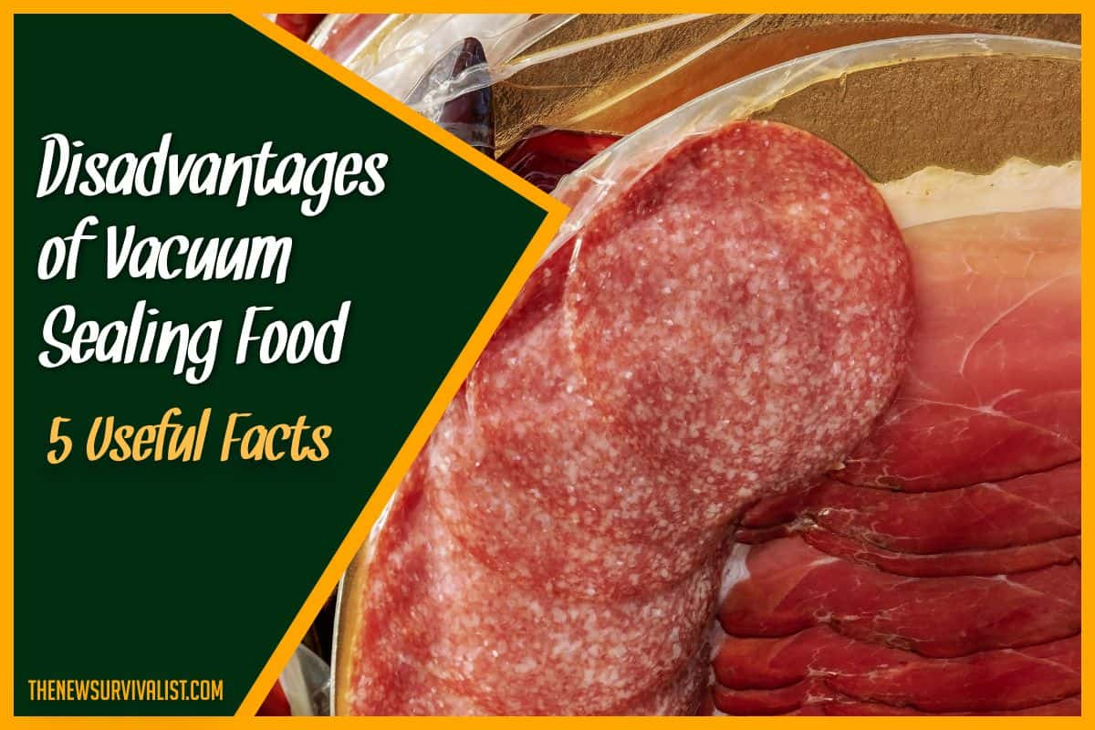 Disadvantages of Vacuum Sealing Food 5 Useful Facts