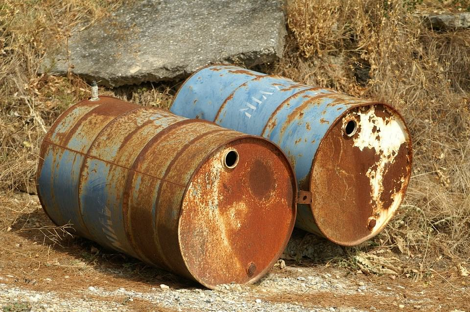 degrading gas containers