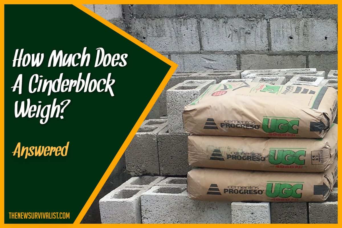 How Much Does a Cinderblock Weigh #Answered